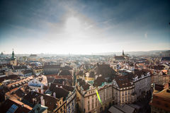 Sikt av Prague som en punkt av turistic destinationer Arkivbild