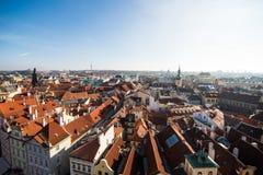 Sikt av Prague som en punkt av turistic destinationer Royaltyfria Foton