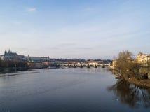 Sikt av Prague, Tjeckien Arkivbild
