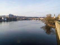 Sikt av Prague, Tjeckien Royaltyfri Bild