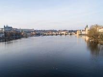 Sikt av Prague, Tjeckien Royaltyfria Foton