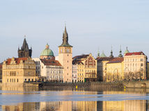 Sikt av Prague, Tjeckien Fotografering för Bildbyråer