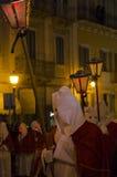 Sikt av processionen som är äldst i Italien Arkivbild