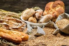 Sikt av produkterna i bageri Fotografering för Bildbyråer