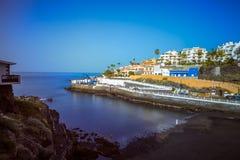 Sikt av Puerto de Santiago på ön av Tenerife Arkivbild