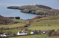 Sikt av punkt Lynas på Anglesey, Wales Royaltyfri Bild