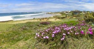 Sikt av Punta del Diablo, Uruguay Arkivbild
