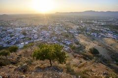 Sikt av Pushkar Arkivbilder