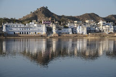 Sikt av Pushkar Arkivbild