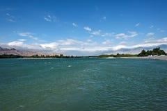 Sikt av Qinghai sjön Fotografering för Bildbyråer