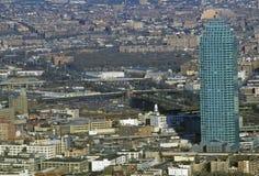 Sikt av Queens från Empire State Building, New York City, NY Arkivfoton