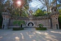 Sikt av Quinta da Regaleira Royaltyfri Bild