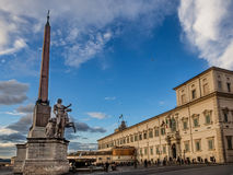 Sikt av Quirinals fyrkant, Rome, Italien arkivfoto