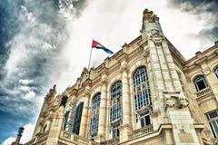 Sikt av revolutionmuseet, tidigare presidentpalatset i Hav Royaltyfri Bild