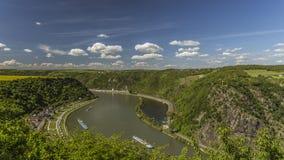 Sikt av Rhendalen fotografering för bildbyråer