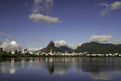 Sikt av Rio de Janeiro från Lagoa arkivfoton