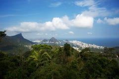 Sikt av Rio de Janeiro från utsikten Chinesa arkivbild