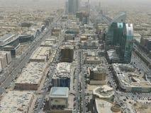 Sikt av Riyadh från kungarikemitttorn Arkivfoton