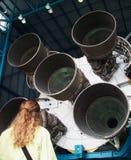 Sikt av Rocket Boosters Fotografering för Bildbyråer