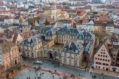 Sikt av Rohan Palace i Strasbourg - Alsace, Frankrike Arkivfoton