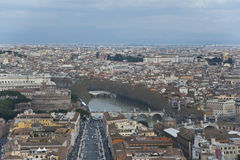 Sikt av Rome från över. Royaltyfri Fotografi