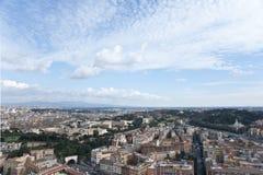 Sikt av Rome från över. Arkivbilder