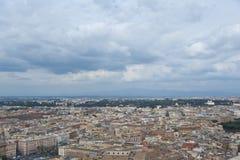 Sikt av Rome från över. Royaltyfria Foton