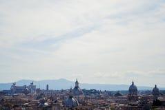Sikt av Rome uppifrån Royaltyfri Fotografi