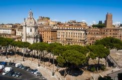 Sikt av Rome uppifrån arkivbild
