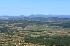 Sikt av södra Mallorca arkivbild