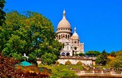 Sikt av Sacren-Coeur Arkivfoto