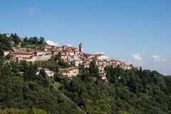 Sikt av Sacro Monte, Varese Arkivfoton