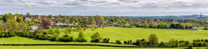 Sikt av Salisbury från gamla Sarum Royaltyfria Foton