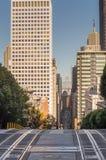 Sikt av San Francisco från den Nob kullen, San Francisco, USA, Kalifornien arkivbild