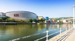 Sikt av San Mames stadion i Bilbao Royaltyfri Bild