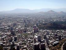 Sikt av Santiago av Chile royaltyfri fotografi