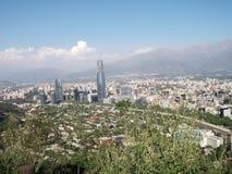 Sikt av Santiago av Chile Arkivfoto