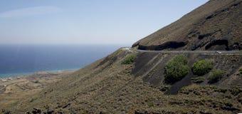 Sikt av Santorinis ö Fotografering för Bildbyråer