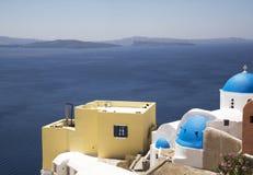 Sikt av Santorinis ö Royaltyfria Bilder