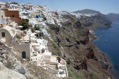 Sikt av Santorinis ö Royaltyfri Fotografi