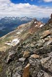 Sikt av schweiziska Alps i sommar Royaltyfria Foton
