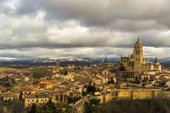 Sikt av Segovia Arkivfoton