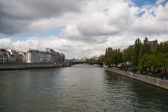Sikt av Seine River Arkivbilder