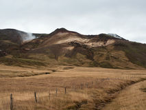 Sikt av Seltun geotermiskt område Royaltyfria Bilder