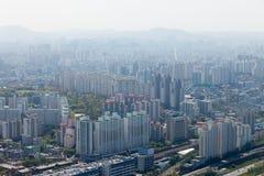 Sikt av Seoul från 63 som bygger Royaltyfria Bilder