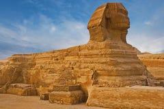 Sikt av sfinxen Egypten royaltyfri fotografi