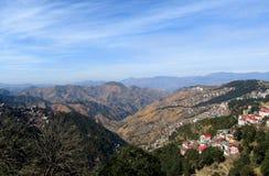 Sikt av Shimla i Himachel Pradesh Arkivbild