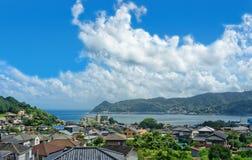 Sikt av Shizuoka, Japan Arkivbilder