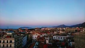 Sikt av Sicilien, Italien arkivbild