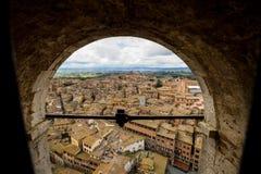 Sikt av Siena royaltyfri foto